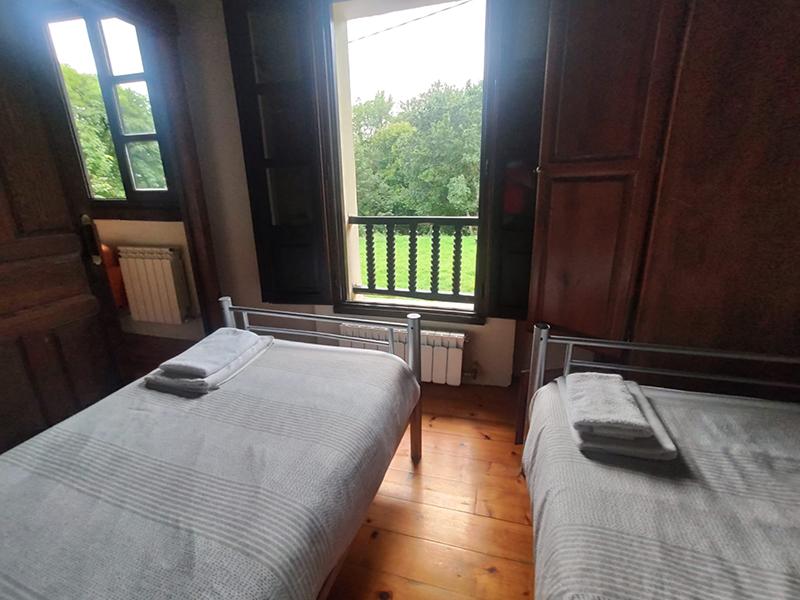 habitación y vistas